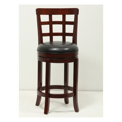 24 Swivel Bar Stool Finish: Brown Cherry