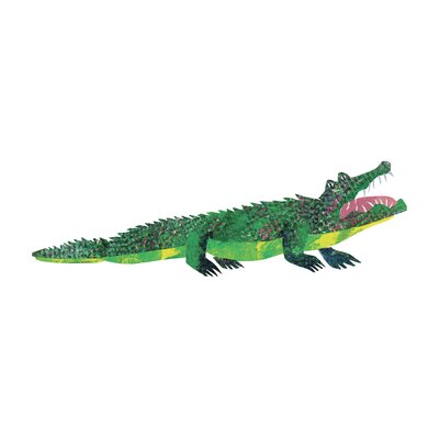 ABC Crocodile by Eric Carle Painting Print on Wrapped Canvas Size: 15