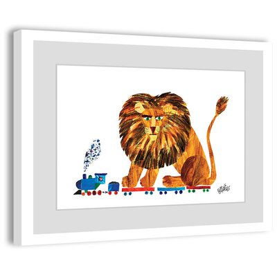 Lion on a Train 2 Framed Painting Print Size: 12