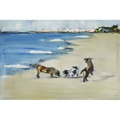 'Dogs? Play' Painting Print on Wrapped Canvas Size: 12