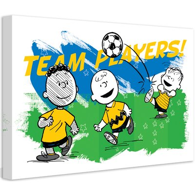 Peanuts Team Players by Charles M. Schulz Painting Print on Wrapped Canvas Size: 12