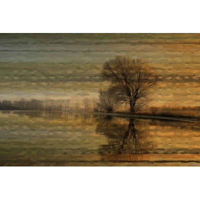 Tree Sunset Painting Print on Wrapped Canvas Size: 40