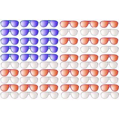 'Sunglasses In America' Painting Print on Wrapped Canvas MH-144-C-18