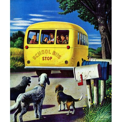 School Bus by Stevan Dohanos Painting Print on Wrapped Canvas Size: 29