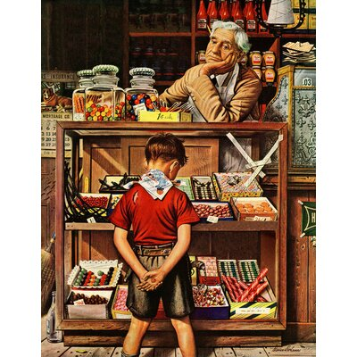 Penny Candy by Stevan Dohanos Painting Print on Wrapped Canvas Size: 31