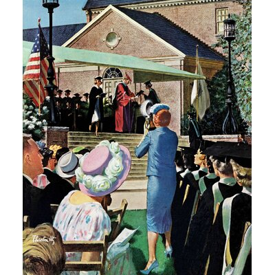 "College Graduation by Thornton Utz Painting Print on Wrapped Canvas Size: 48"" H x 40"" W"