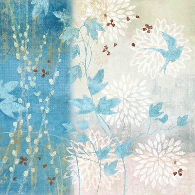 Chrysanthemum Bird I by Evelia Painting Print on Wrapped Canvas Size: 24