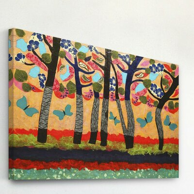 Dancing Butterflies by Lisa Mee Painting Print on Wrapped Canvas Size: 20