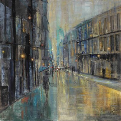 'Metro Lights I' by Julie Joy Painting Print on Wrapped Canvas ET-MHMWWJJ-196-C-18