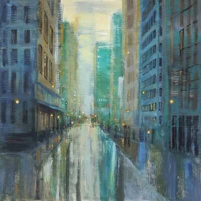 'Metro Lights Iii' by Julie Joy Painting Print on Wrapped Canvas ET-MHMWWJJ-198-C-18