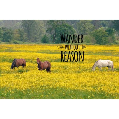Wander Without Reason by Robert Dickinson Painting Print on Wrapped Canvas Size: 20
