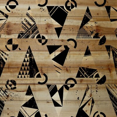 Playful Painting Print on Natural Pine Wood Size: 32