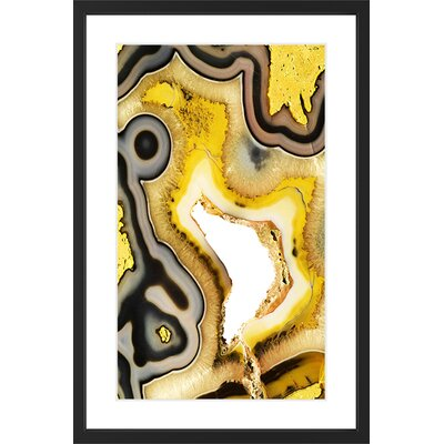 'Chrysocolla' Framed Painting Print Size: 18
