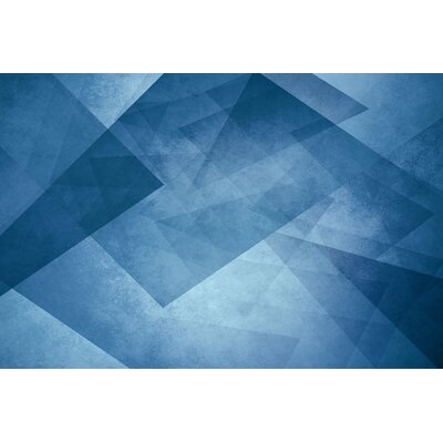 Pataphysical Blue Painting Print on Wrapped Canvas Size: 40