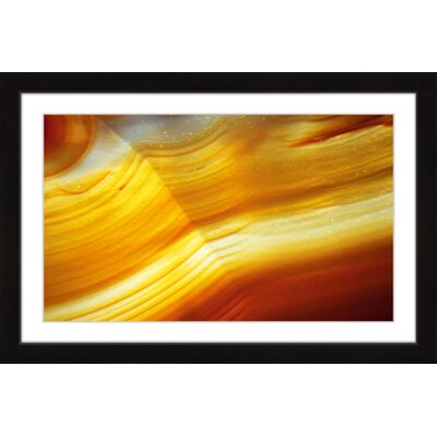 "'Golden Waves' Framed Painting Print Size: 20"" H x 30"" W x 1.5"" D MH-ABGEO-152-BFP-30"