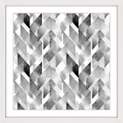 Ribbon Crossing Framed Graphic Art Size: 40