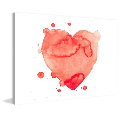 Furniture-Marmont Hill 'Heart Splash' Painting Print on Wrapped Canvas