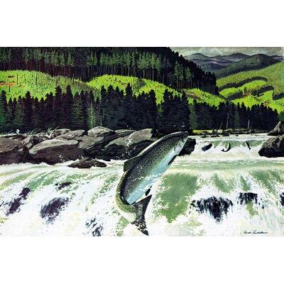 'Salmon Run' Painting Print on Wrapped Canvas MH-LDGCU-97-C-18