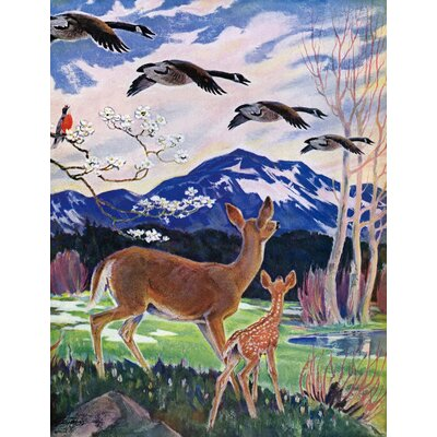Spring Meadow  Print on Wrapped Canvas Size: 39