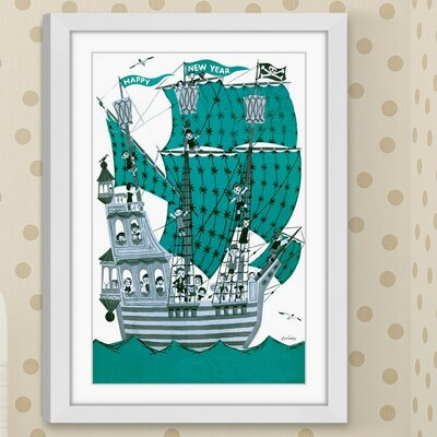 'Green Sails' Framed Painting Print Size: 18