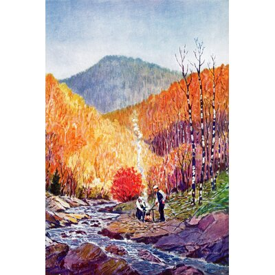 'Autumn View' Painting Print on Wrapped Canvas Size: 60