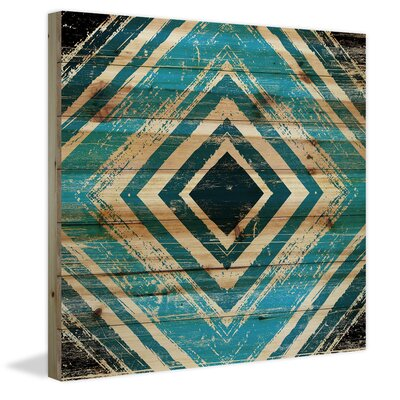 Blue Square Rings Painting Print Size: 24