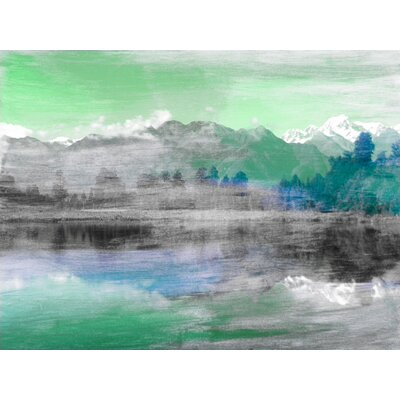 'Mountain High' by Jen Lee Painting Print on Wrapped Canvas