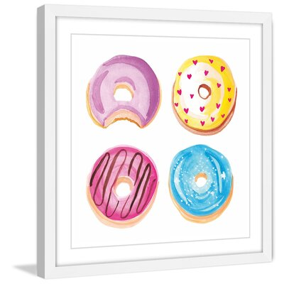 """Donuts"""" by Molly Rosner Framed Painting Print Size: 48"""" H x 48"""" W x 1.5"""" D MH-MOLROS-05-WFP-48"""