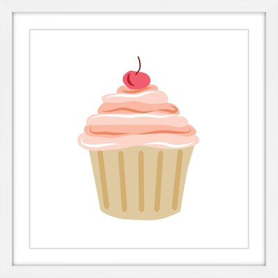 'Cupcake Cherry' by Diana Alcala Framed Painting Print