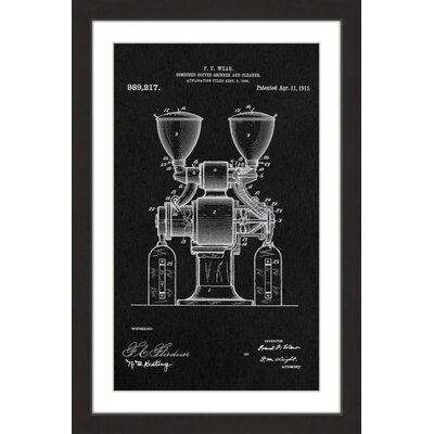 'Coffee Grinder 1911 Black Paper' by Steve King Framed Painting Print MH-STVKG-73-BFP-18