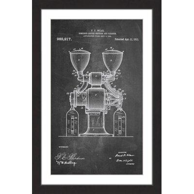 'Coffee Grinder 1911 Chalk' by Steve King Framed Painting Print MH-STVKG-75-BFP-30
