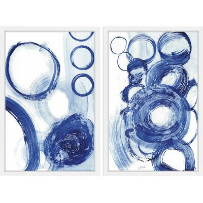 Painted Blue Circles Diptych MH-AMSETS-AB-306-NWFP-