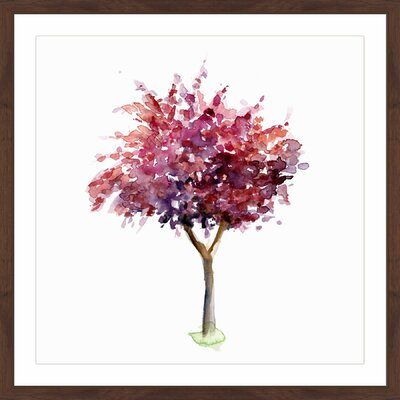 'Purple Red Tree' by Michelle Dujardin Framed Painting Print