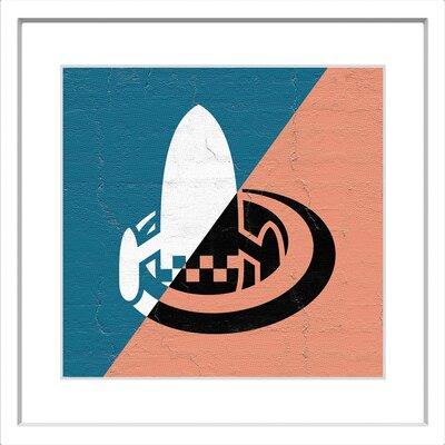 "Hidden Ship"" Framed Graphic Art on Paper MH-SPAHZ-15-WFP-12"