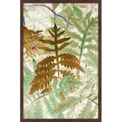 "Golden Fern"" Framed Painting Print Size: 30"" H x 20"" W x 1.5"" D MH-MWW-JAS-1003-NDWFP-30"