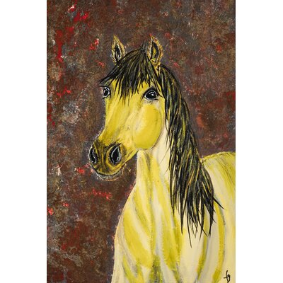 "Blondie Missouri Fox Trotter Horse"" Painting Print on Wrapped Canvas MH-MWW-GILBERT-42-C-18"