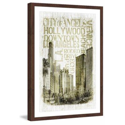 "'Golden City LA' Framed Painting Print Size: 30"" H x 20"" W x 1.5"" D MH-DIDI-20-DWFP-30"