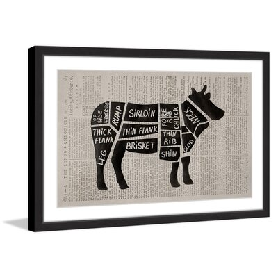 "'Beef Cuts II' Framed Painting Print Size: 20"" H x 30"" W x 1.5"" D MH-JLFOOD-53-BFP-30"
