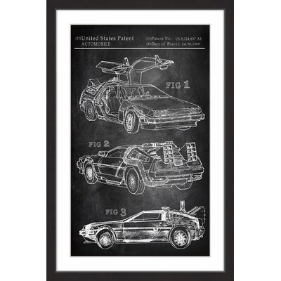 'Back to the Future Car' Framed Painting Print