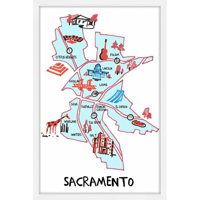 'Sacramento Highways' Framed Painting Print MH-JULKID-43-NWFP-18