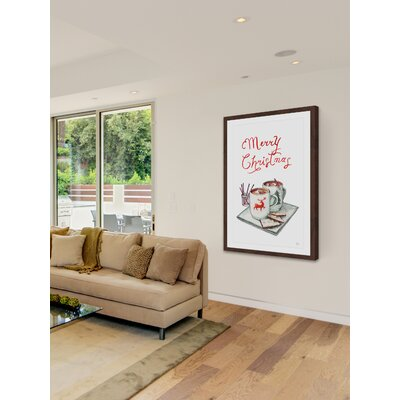 'Christmas Brunch' Framed Drawing Print Size: 12