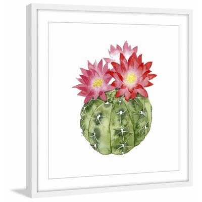 'Cactus Bloom III' Framed Painting Print Size: 12