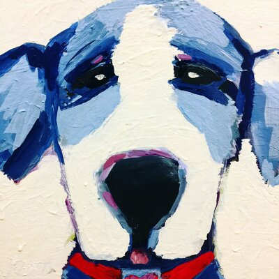 'Little Pup' Painting Print on Wrapped Canvas Size: 18