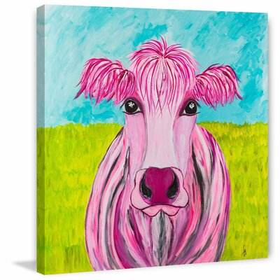 'Pink-Kay' Acrylic Painting Print on Wrapped Canvas Size: 18