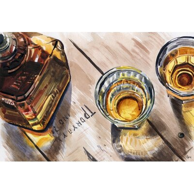 'Apéro'Watercolor Painting Print on Wrapped Canvas Size: 12
