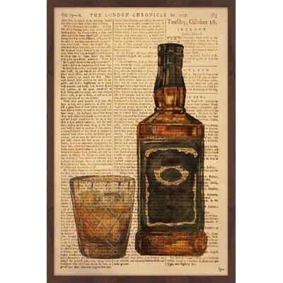 "'Black Label Bourbon' Framed Painting Print Size: 18"" H x 12"" W x 1.5"" D STSS1235 38841162"