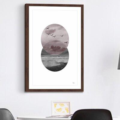 'Over the Sea' Framed Painting Print Size: 18