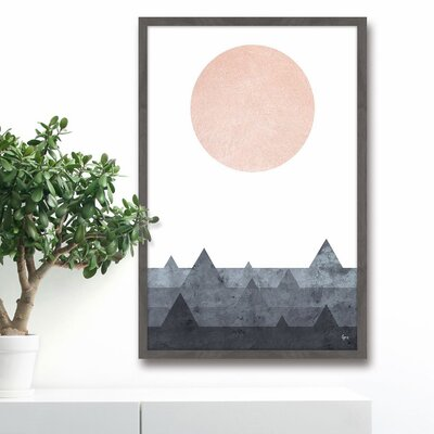 'Pink Moon' Framed Painting Print Size: 18