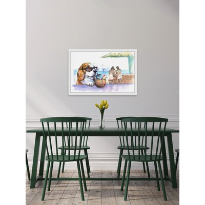 'Best Place Ever' Framed Watercolor Painting Print Size: 12