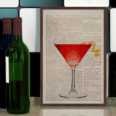 'Watermelon Martini' Framed Painting Print Size: 18